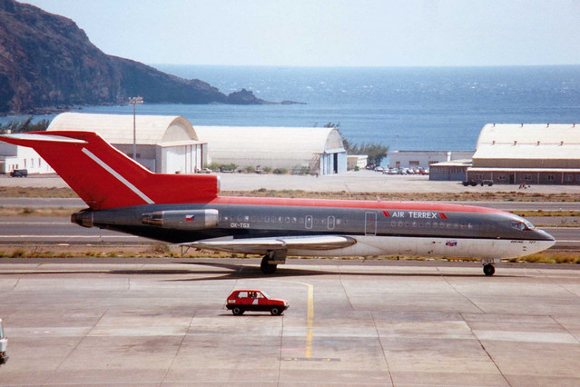OK-TGX Boeing 727-51 cn 18798 ln 93 Air Terrex Las Palmas 26Feb93