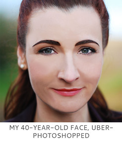 Not Dressed As Lamb | My 40 Year Old Face, Uber-Photoshopped