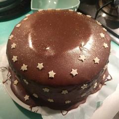 Massive sparkly chocolate cake. #Knightpatisserie