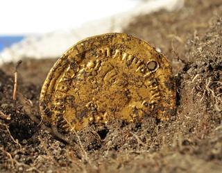 Roman coin at Öland Island massacre site