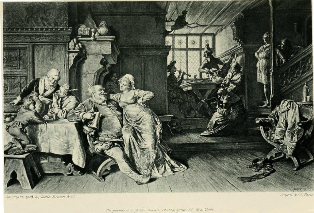 Edward_Grutzner_Goupil_Falstaff_at_the_Boars_Head_Tavern