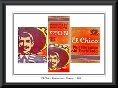 086 - El Chico Restaurant, Texas, (Book Matches), USA - 1988