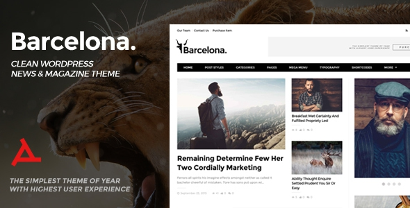 Barcelona v1.4.4 - Clean News & Magazine WordPress Theme