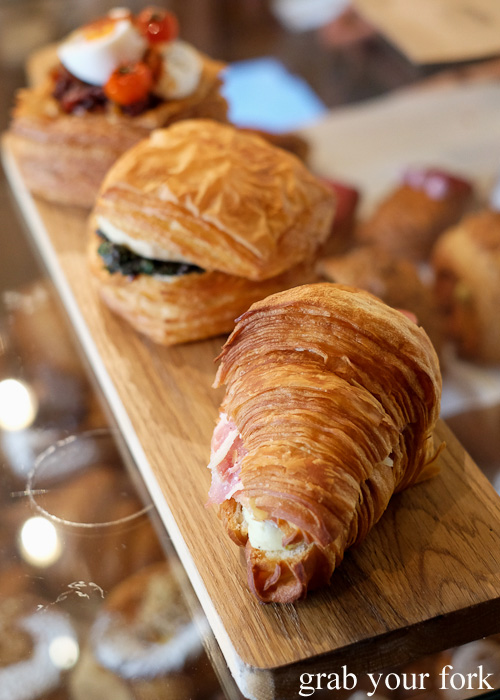 Barry Croquer croissant and danwiches at Abbots and Kinney, Adelaide