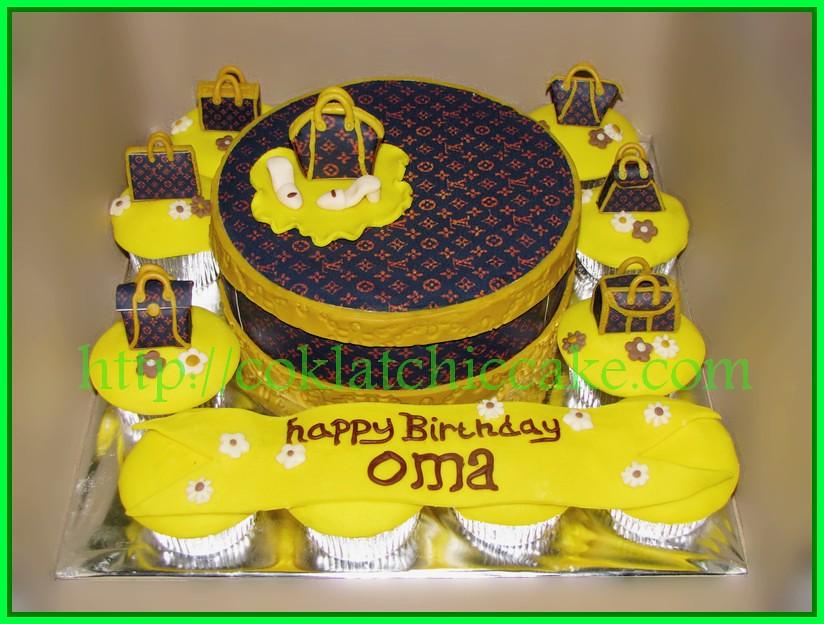 Cake LV with Cupcake