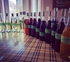 Wines blended today, ready for the final taste before signing off for bottling...