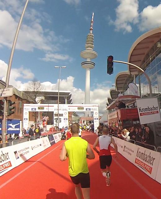 Hamburg Marathon - Mål!