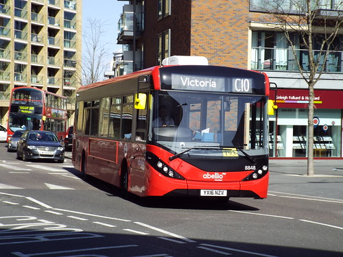 Abellio London 8848, YX16NZW at Canada Water on route C10