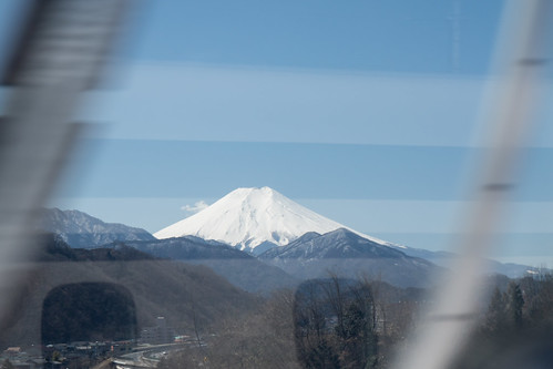 Mt. Fuji view from SCMaglev train running by 500km/h