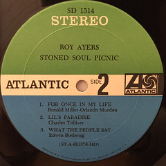 ROY AYERS:STONED SOUL PICNIC(LABEL SIDE-B)