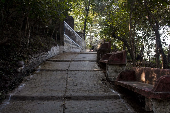 Road to Beatles Ashram in Rishikesh, India