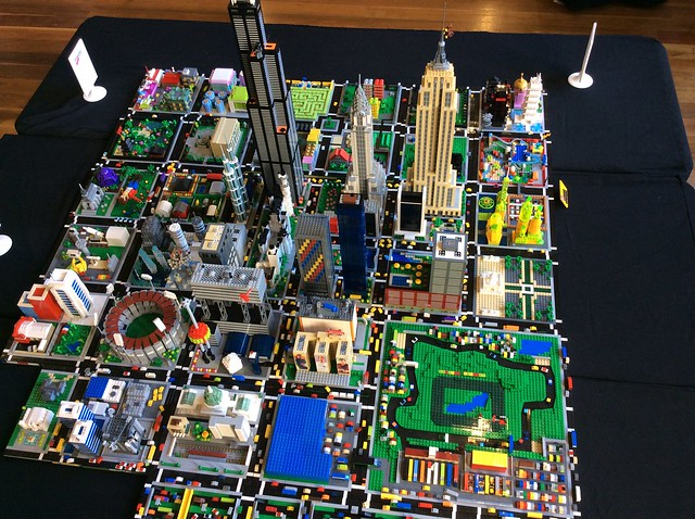 Brickvention Melbourne Micropolis display January 2016. Created with blocks from exhibitors from all over Australia.
