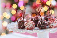 christmas dipped maraschino cherries