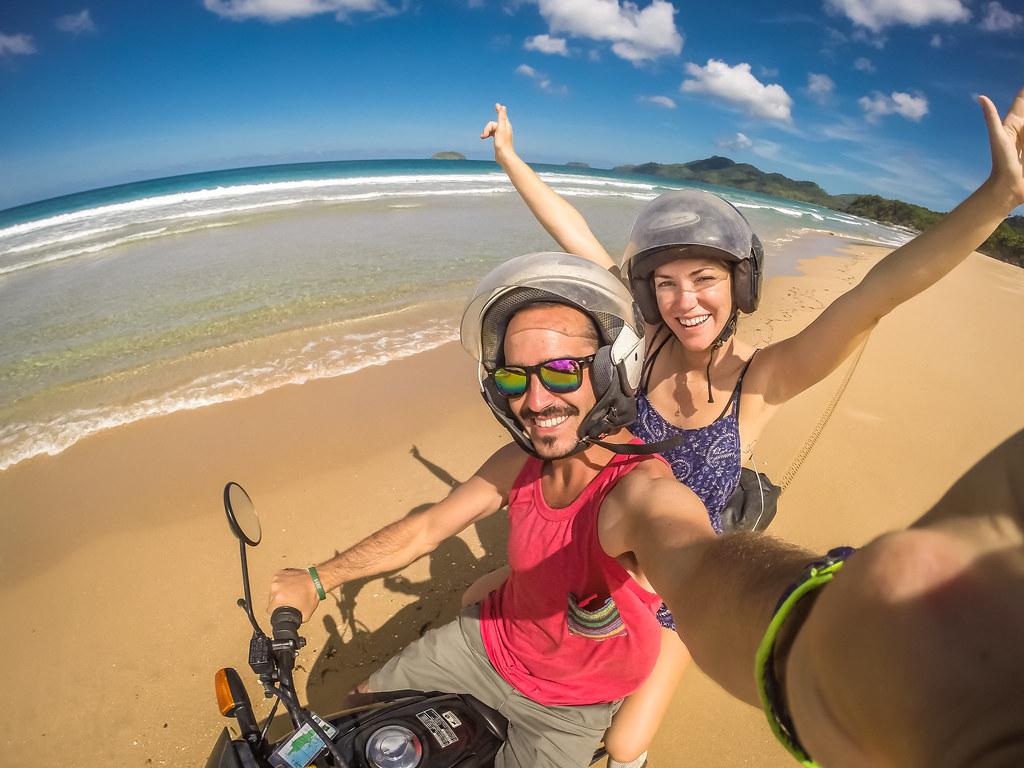 Motorcycle Duli Beach, Philippines