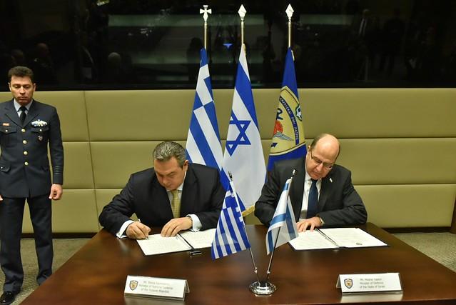 Δηλώσεις ΥΕΘΑ Πάνου Καμμένου μετά την συνάντησή του με τον Υπουργό Άμυνας του Ισραήλ Μοσέ Γιαλόν στο ΥΠΕΘΑ