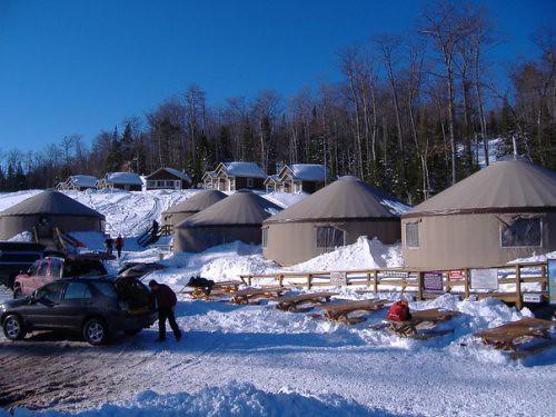 Mt. Bohemia yurts