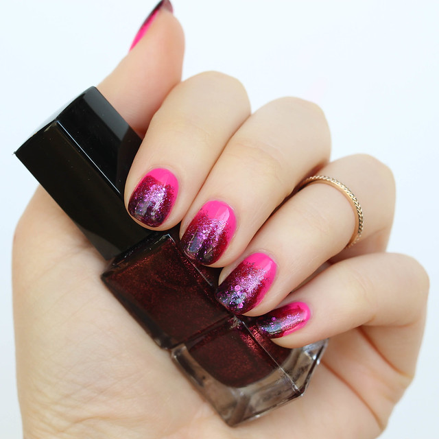 Living After Midnite: Valentine's Day Pink Ombre Manicure