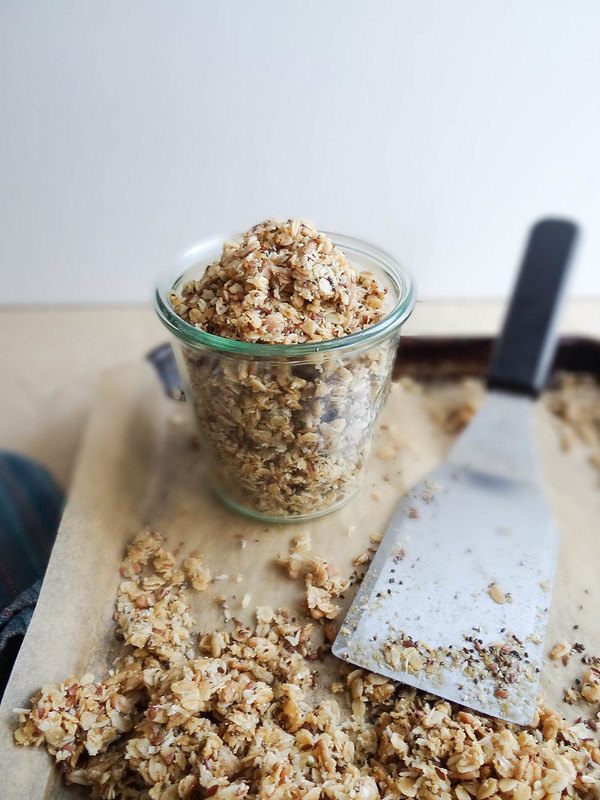 Maple Coconut Granola // Flax + Sunflower Seeds