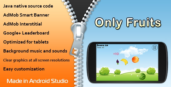 CodeCanyon Only Fruits Game with AdMob and Leaderboard