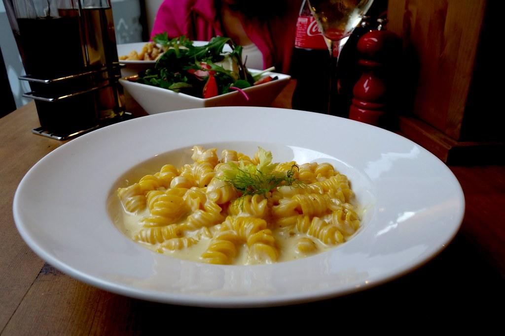 Fusilli with Cheese Sauce, Pasta Remoli, Finsbury Park