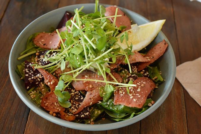 Roast organic beetroot salad