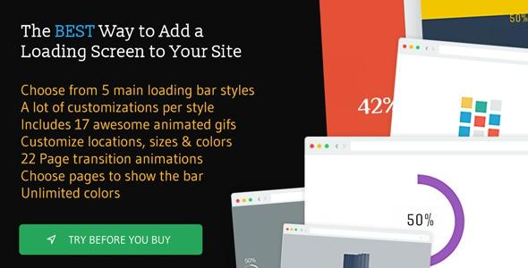 Codecanyon The Loading Bar WordPress Plugin v1.6