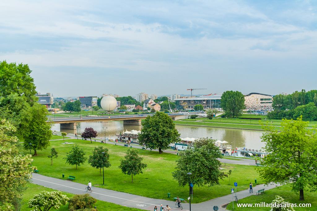 Vistas desde el castillo de Wawel