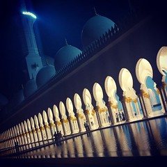 #abudhabi grand mosque #mosque #reflection