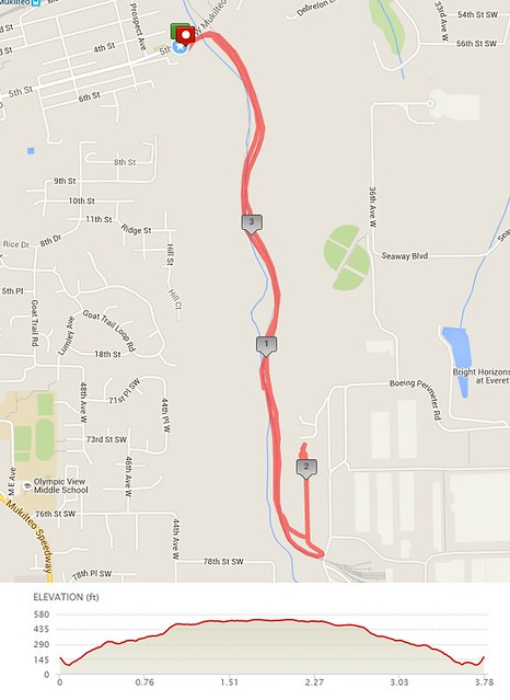 Today's awesome walk, 3.78 miles in 1:18, 8,128 steps, 397ft gain