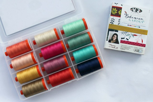 Bohemian Garden Aurifil Thread Collection