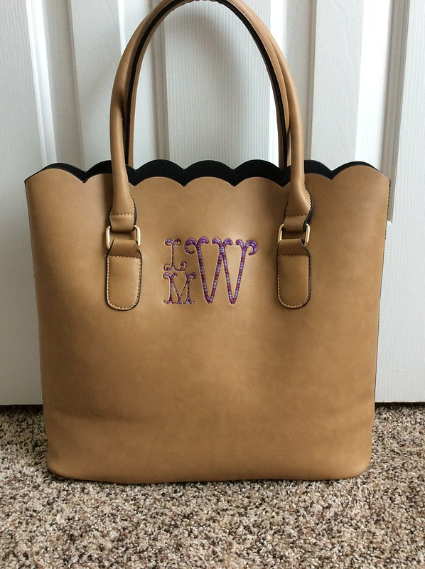Scallop Bag Monogrammed