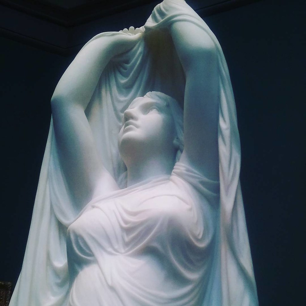 Undine Rising from the Waters. 1880. Chauncey Bradley Ives. #statue #yale #artgallery #lazysunday #yaleartgallery #marble
