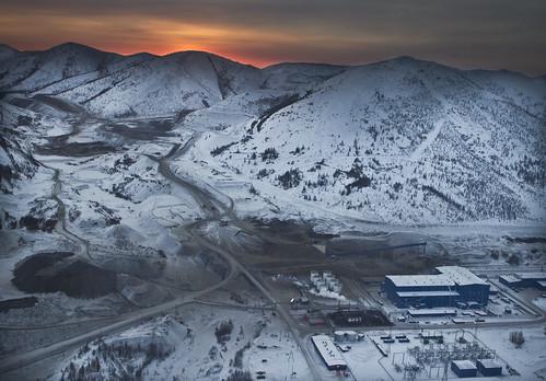 travel sunset nature landscape gold mine russia aerial mining kolyma pavlik 2016 minesite galushchak golddeposit moreminerals
