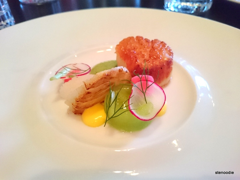 Sea Scallop, Fennel, Cucumber, Cured Egg Yolk
