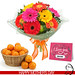 Healthy Basket With Flowers - Giftacrossindia.com by Tania Pandaya