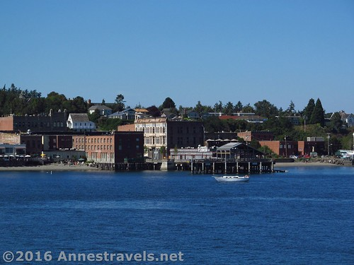 Port Townsend from the Port Townsend Ferry crossing the Puget Sound, Washington