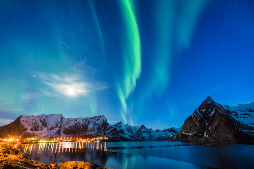 Northern light in Lofoten