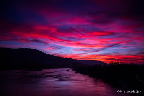 Sunset_Rhein_Dogern