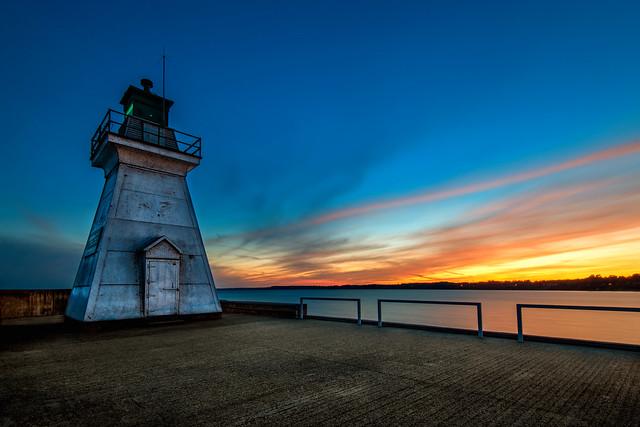 Port Dover Lighthouse at Sunset