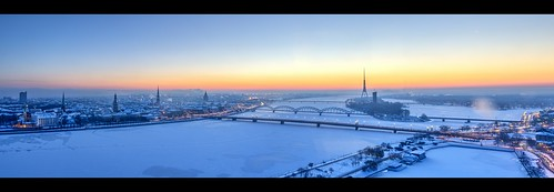 city longexposure morning winter sky panorama snow cold ice water sunrise river landscape frozen europe outdoor capital baltic latvia 20 oldtown frozenwater hdr riga hdrpanorama rigaoldtown