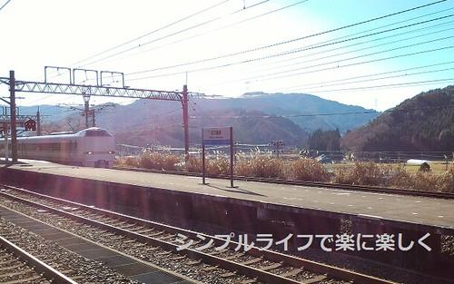青春18敦賀、近江塩津駅サンダーバード通過