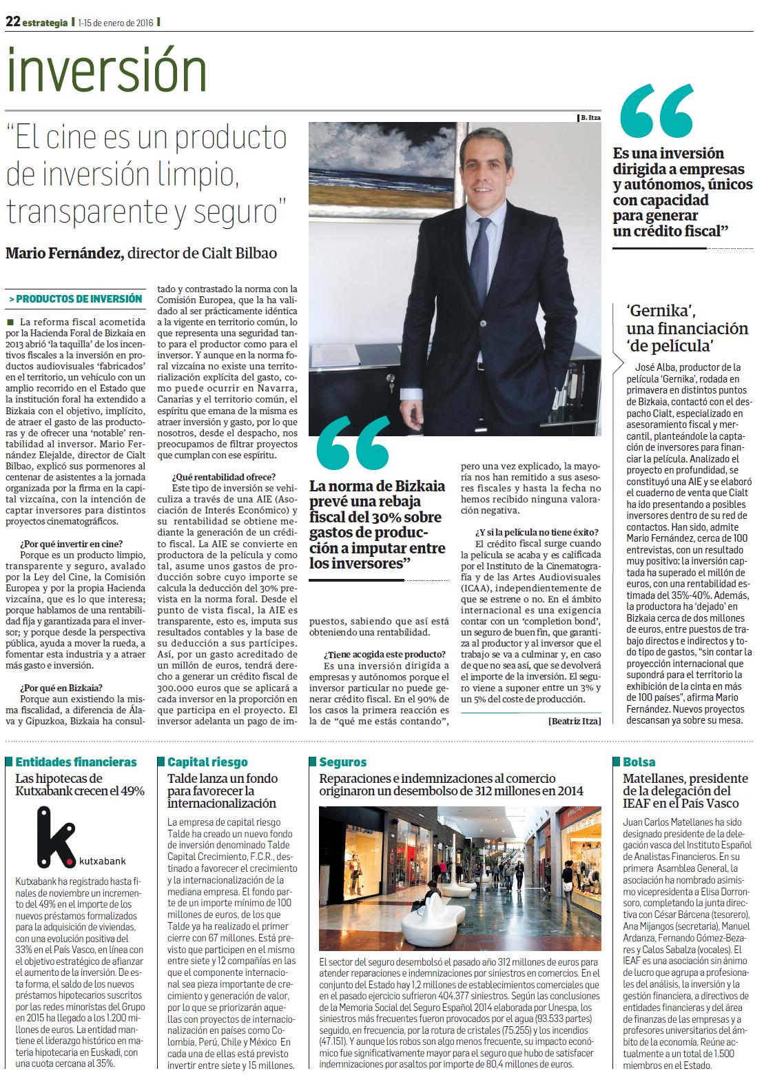 Mario Fernández en la revista Estrategia Empresarial
