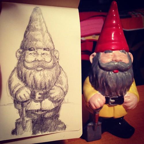 Moleskine Sketching - Yard Gnome