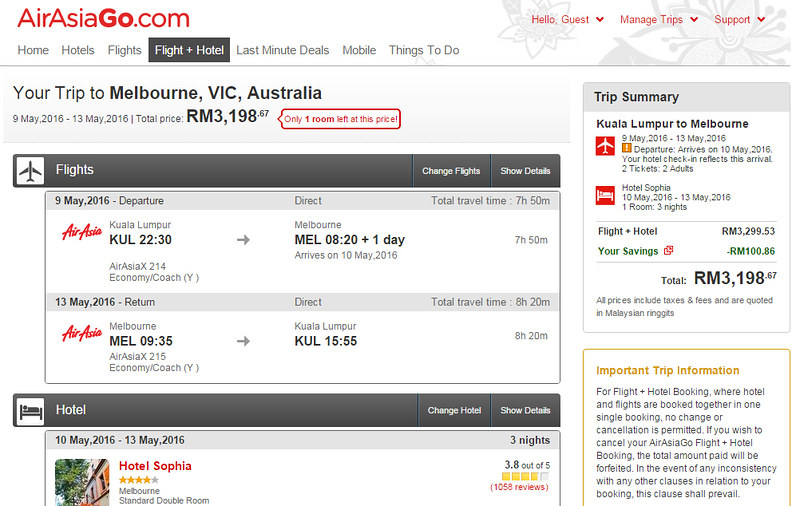 airasiago melbourne schedule may