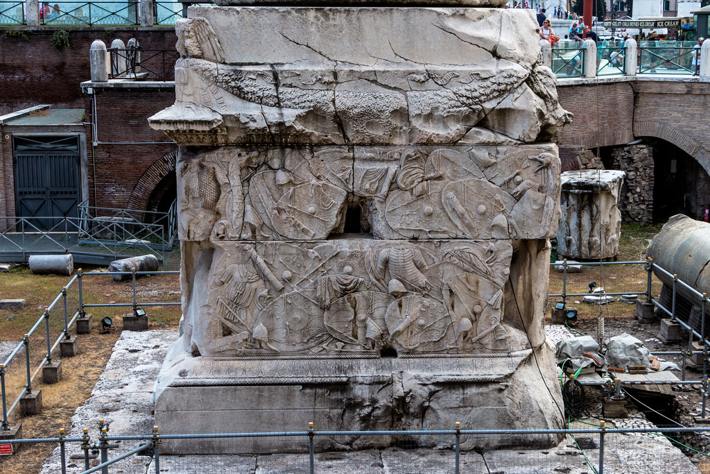 Trajan's Column is a Roman triumphal column  that commemorates Roman emperor Trajan's victory in the Dacian Wars.