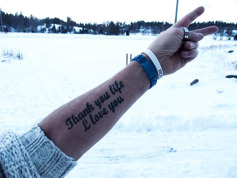 thank you life i love you tattoo