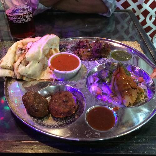 Vegetarian appetizer platter @naanolicious #yegfood