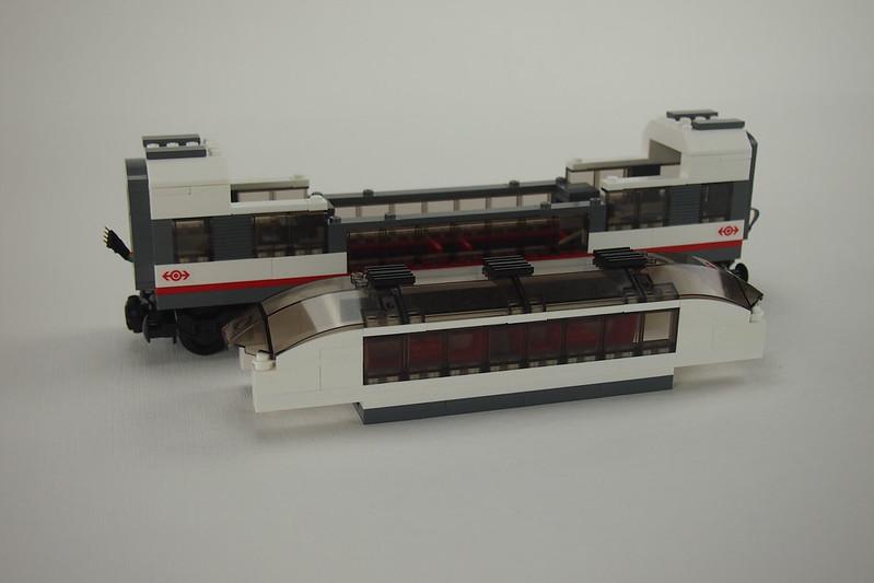 Doppeldecker Zugwaggon für LEGO 60051 Schnellzug