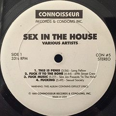 V.A.:SEX INTHE HOUSE:SEX INTH HOOD(LABEL SIDE-A)