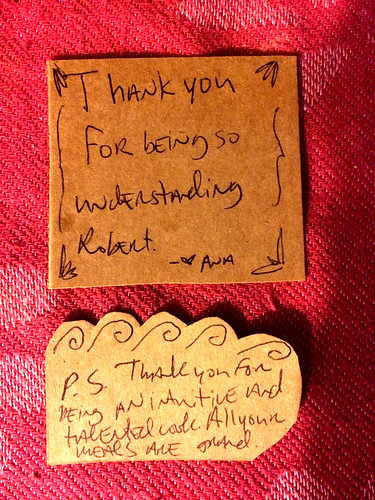 Thank You Note from Ana (February 10 2015)
